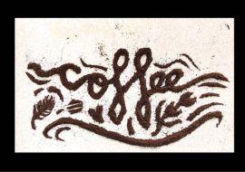 Handlettering met koffie